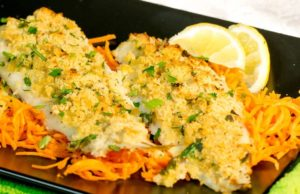 Filete de pescado gratinado al horno