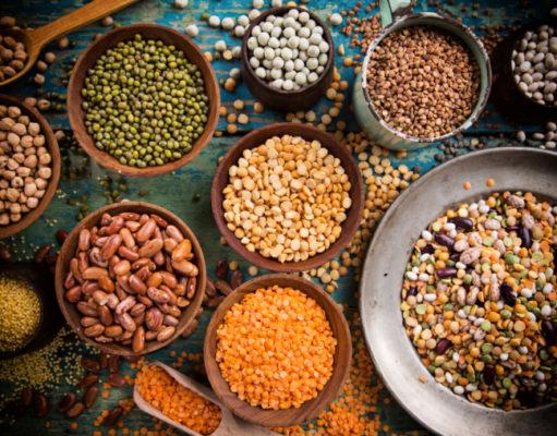 El peso de las legumbres de secas a cocidas y viceversa