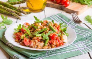 ensalada de espelta con verduras