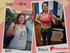 antes y después dieta ManzanaRoja