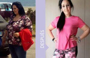 Angela consiguió perder muchos kilos